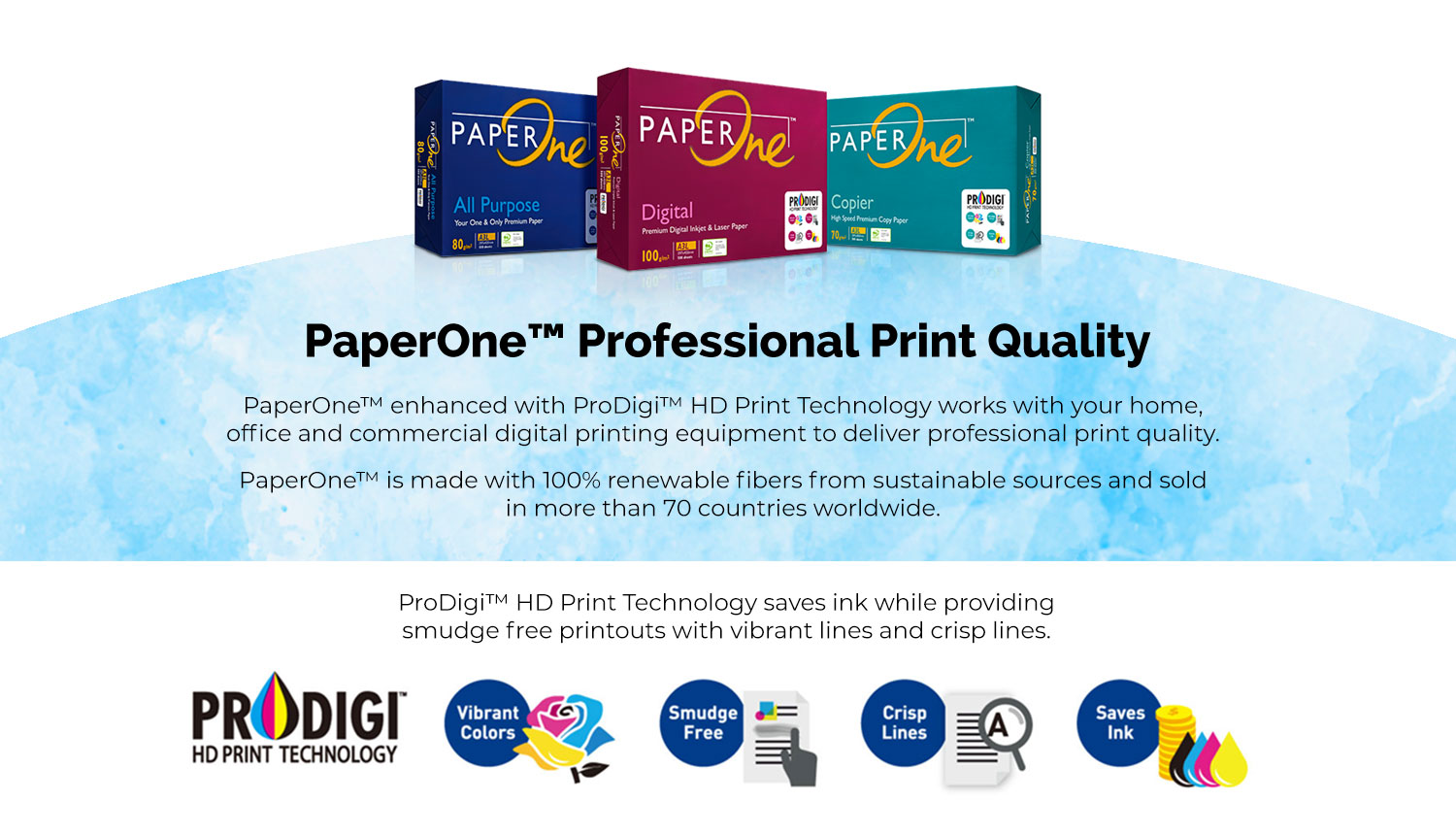 Premium Quality Office Printer Paper Supplier | PaperOne